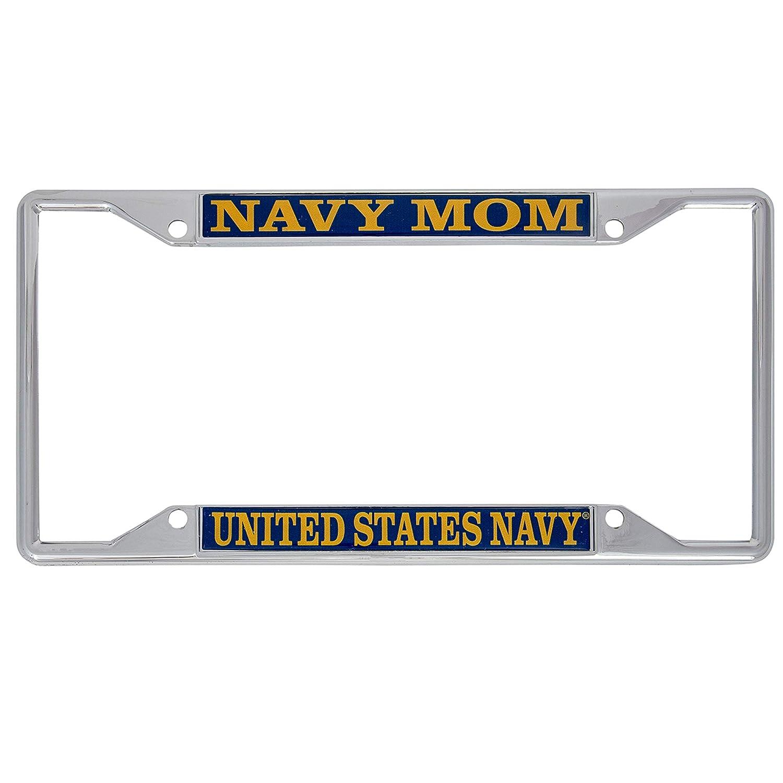 Desert Cactus US Navy Mom License Plate Frame for Front Back of Car Officially Licensed United States