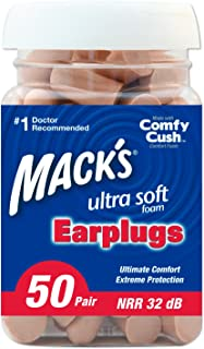 product image for Mack's Ultra Soft Foam Earplugs, 50 Pair (Pack of 2)