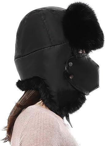 Men/'s Winter Faux Fur Russian Hat Trapper Ushanka Cossack Warm Ski Furry Cap