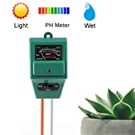 DoitY 3 in 1 Soil Tester Instant Moisture Meter Light and PH Meter Plant Tester (No Battery needed)