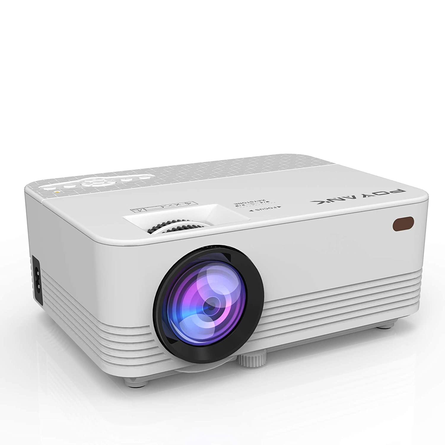 [WiFi Projector] POYANK 2000LUX LED Mini Projector, WiFi Directly Connect with iPhone X,8,7,6,5/iPad/Mac/Google/Samsung,Huawei,Xiaomi & Android Device (1080p Supported) (WiFi Model) TP-01