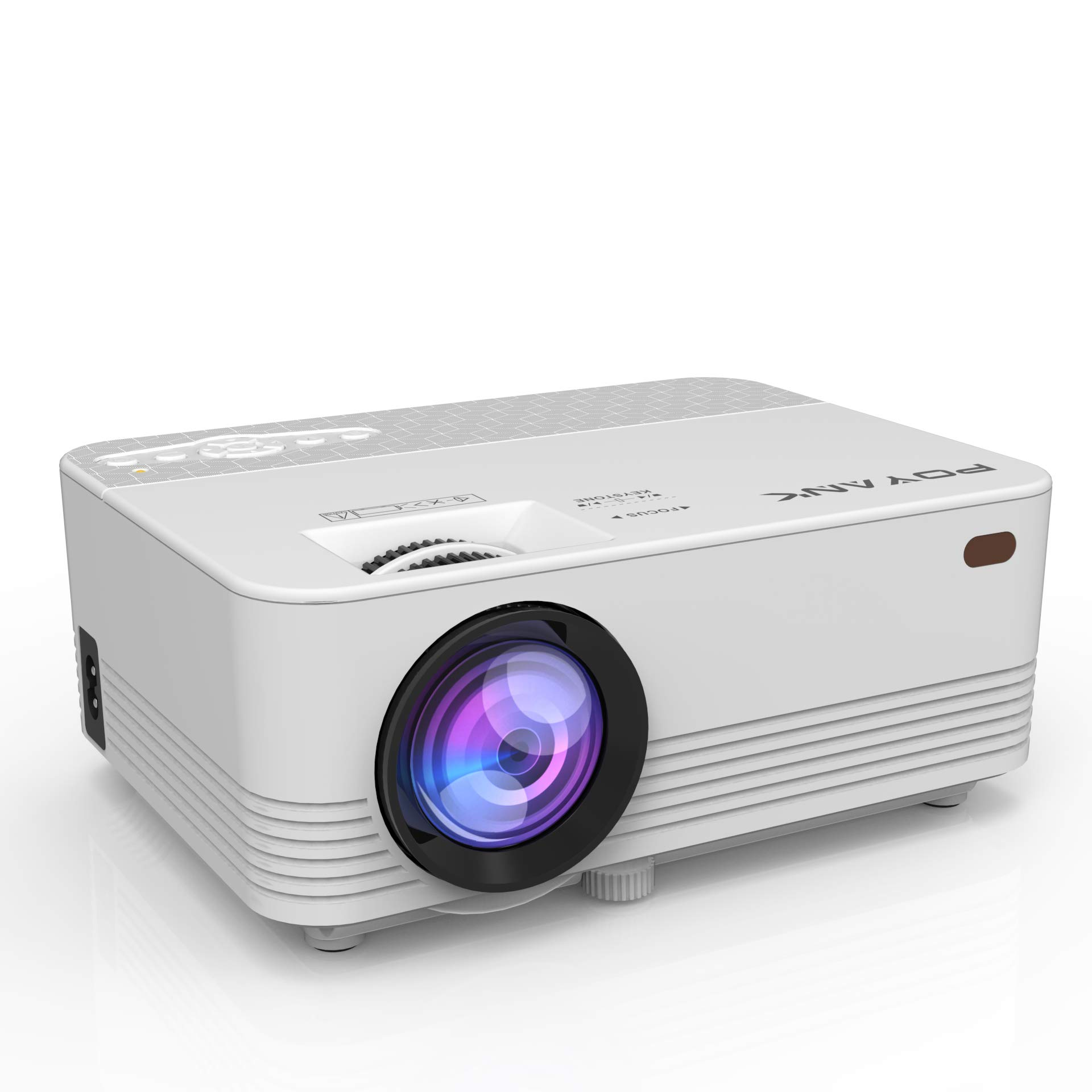 [WiFi Projector] POYANK 2000LUX LED Mini Projector, WiFi Directly Connect with iPhone X,8,7,6,5/iPad/Mac/Google/Samsung,Huawei,Xiaomi & Android Device (1080p Supported) (WiFi Model)
