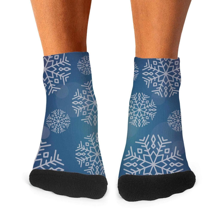 Floowyerion Mens snowflake with christmas tree Novelty Sports Socks Crazy Funny Crew Tube Socks