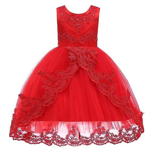 Yangxuelian Vestido de Las niñas Vestido de Princesa Vestido de ...