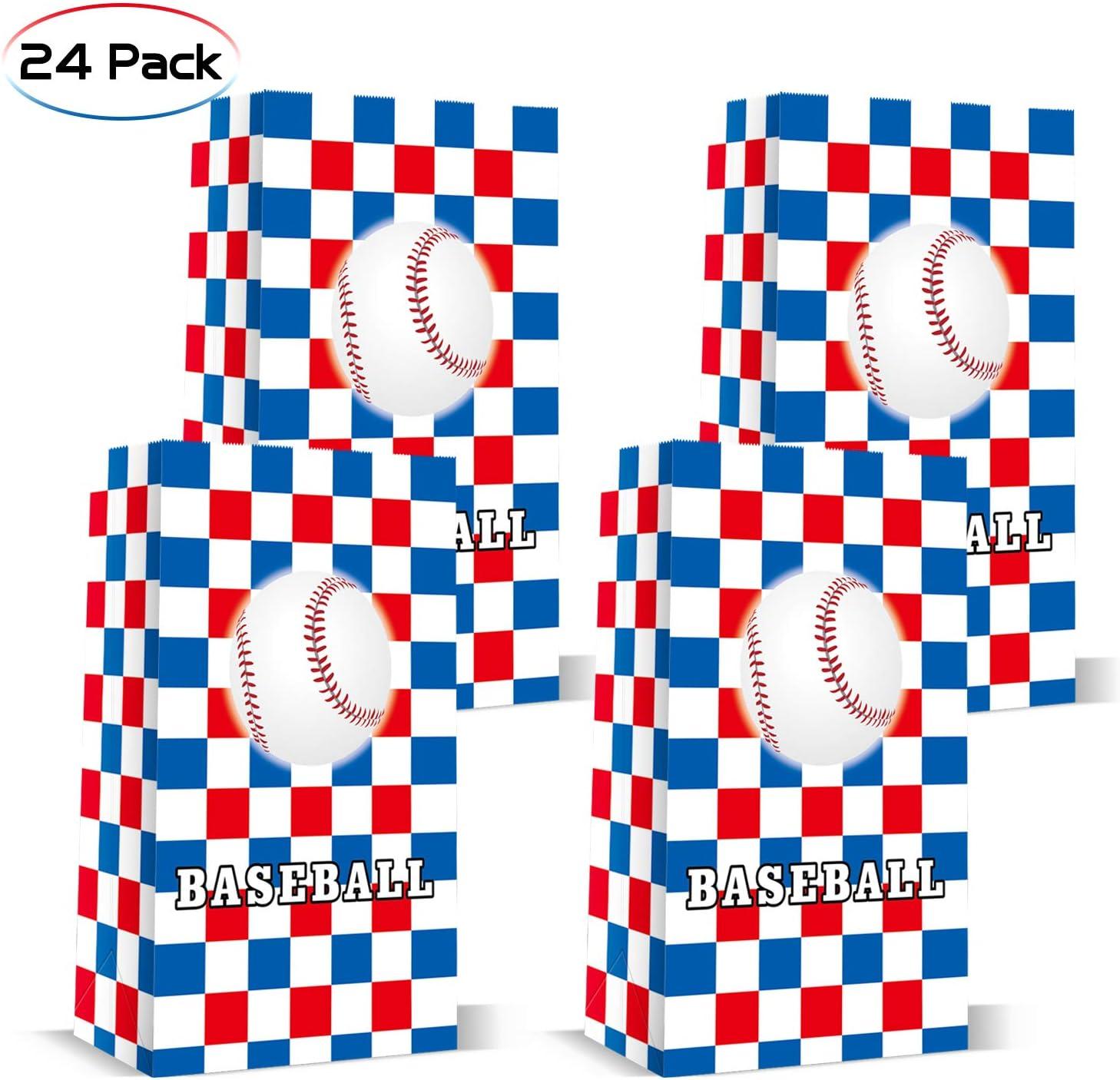 24 paquetes de bolsas de regalo para dulces de béisbol: Amazon.es: Juguetes y juegos