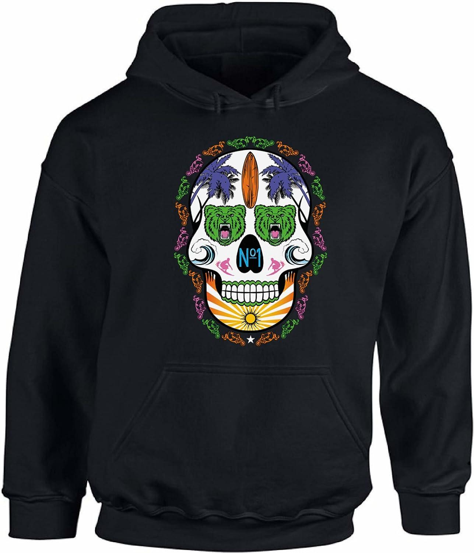 Awkward Styles Unisex Neon Skull Hoodie Hooded Sweatshirts Neon Skull Bears Surf Board
