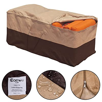 Patio Furniture Chaise Organizer Protector Cover Cushion Storage Bag New Outdoor: Kitchen & Dining