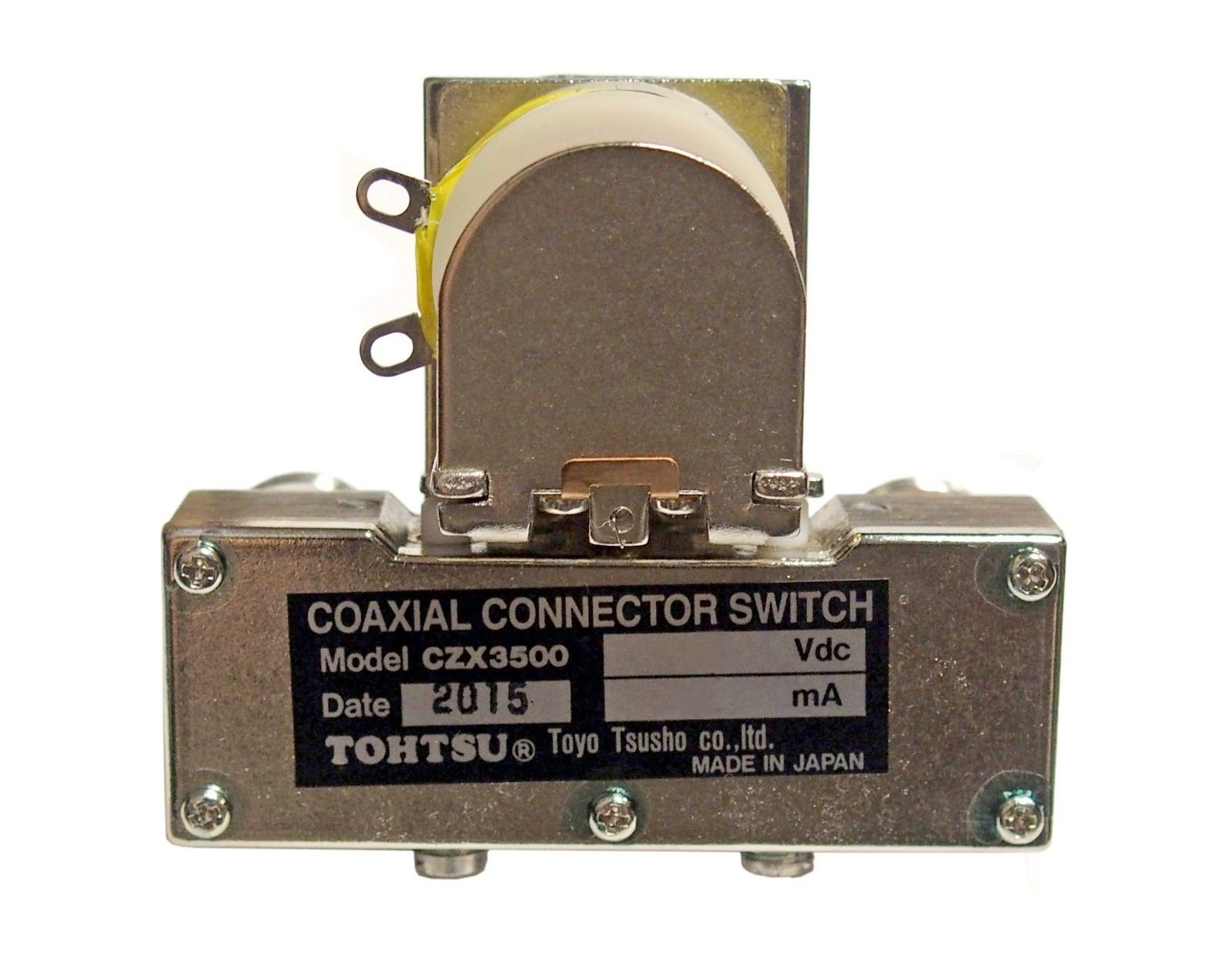 New Tohtsu CZX-3500 SPDT 12VDC N Connector Microwave Coaxial Relay - to 4 GHz