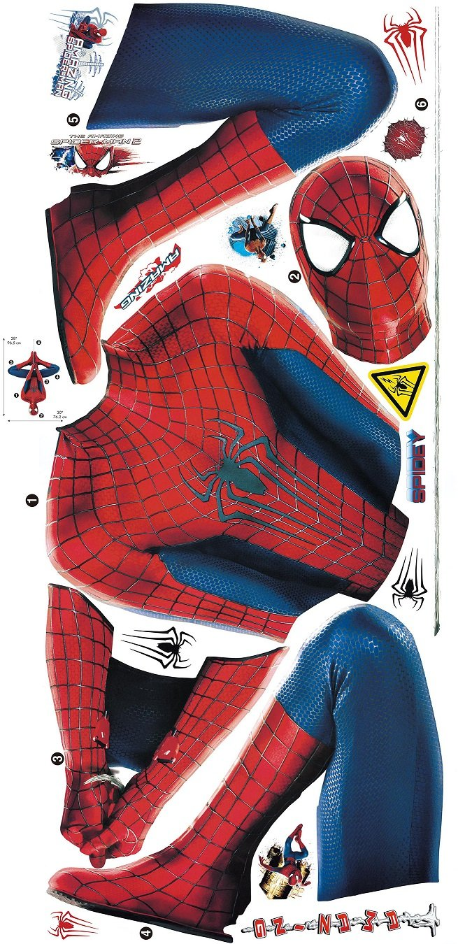 Marvel Superheroes Comic - The Avengers - The Amazing Spiderman Web Slinging Giant Wall Decal Sticker by Marvel Movies (Image #3)