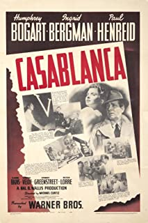 product image for Casablanca Vintage Poster c. 1942 (12x18 Art Print, Wall Decor Travel Poster)