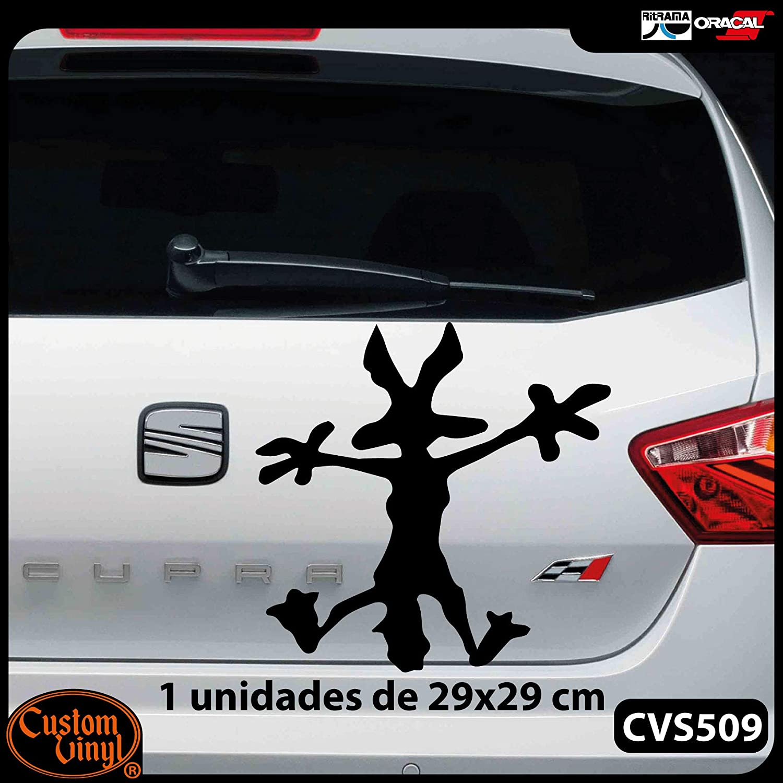 Negro, L - 18x18cm Dise/ño registrado Custom Vinyl Vinilo para Bollos Coyote