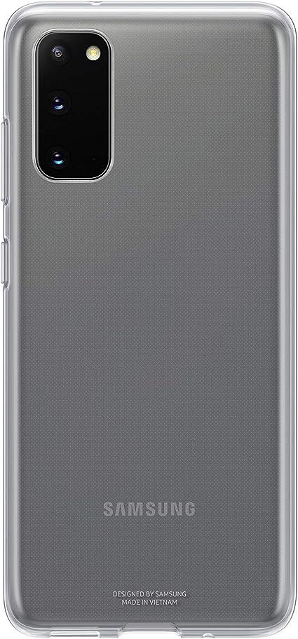 Samsung Clear Cover Smartphone Cover Ef Qg980 Für Galaxy S20 S20 5g Handy Hülle Extra Dünn Und Griffig Schutz Case Durchsichtig Transparent Elektronik