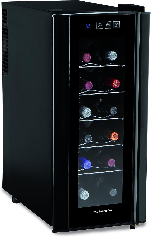 Orbegozo VT 1200 Vinoteca de 12 botellas con display digital, 70 W ...