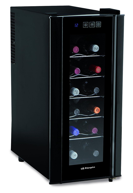 Negro Metal 70 W Orbegozo VT 1200 Vinoteca de 12 Botellas con Display Digital