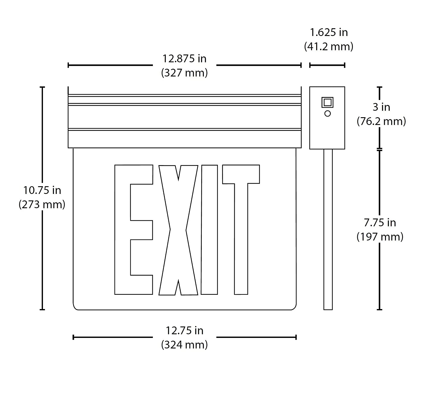 Nicor Exit Sign Wiring Diagram Worksheet And Emergency Lighting Edge Lit Led Clear With Green Rh Msfiltroseuropa Com Br Crispaire Wall Mount Unit Signs