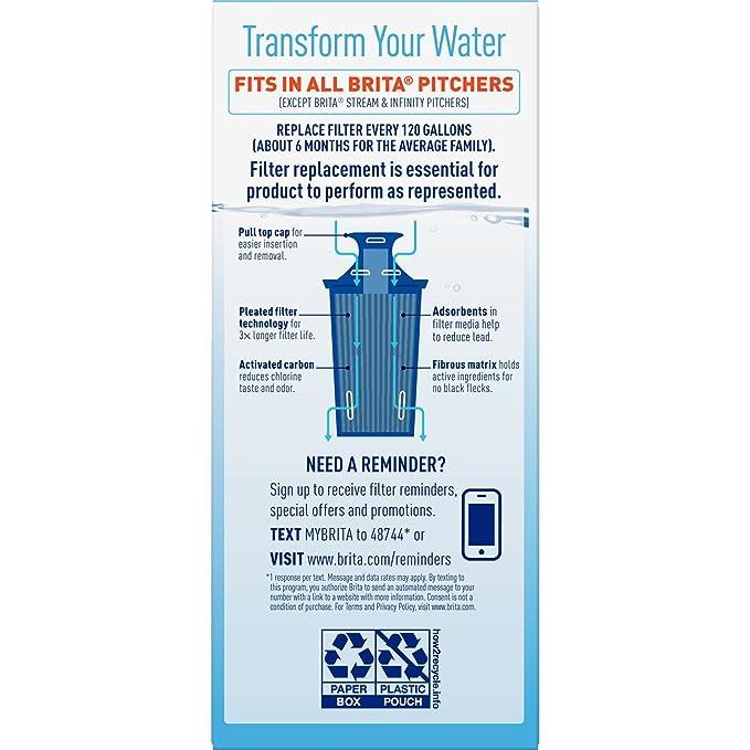 .com: brita longlast water filter, longlast replacement ...