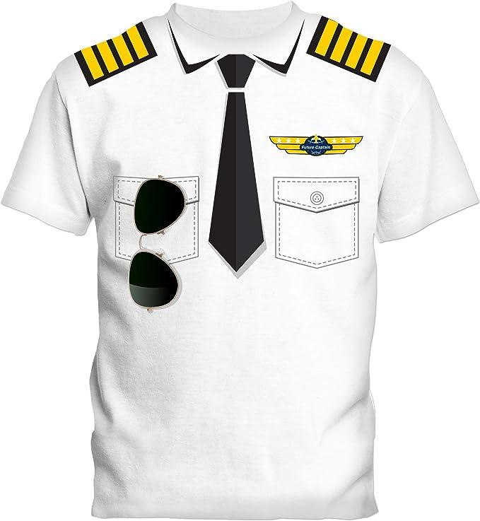 SOCATEC- Camiseta blanca piloto 100% algodón, 180 g, talla 6 años ...