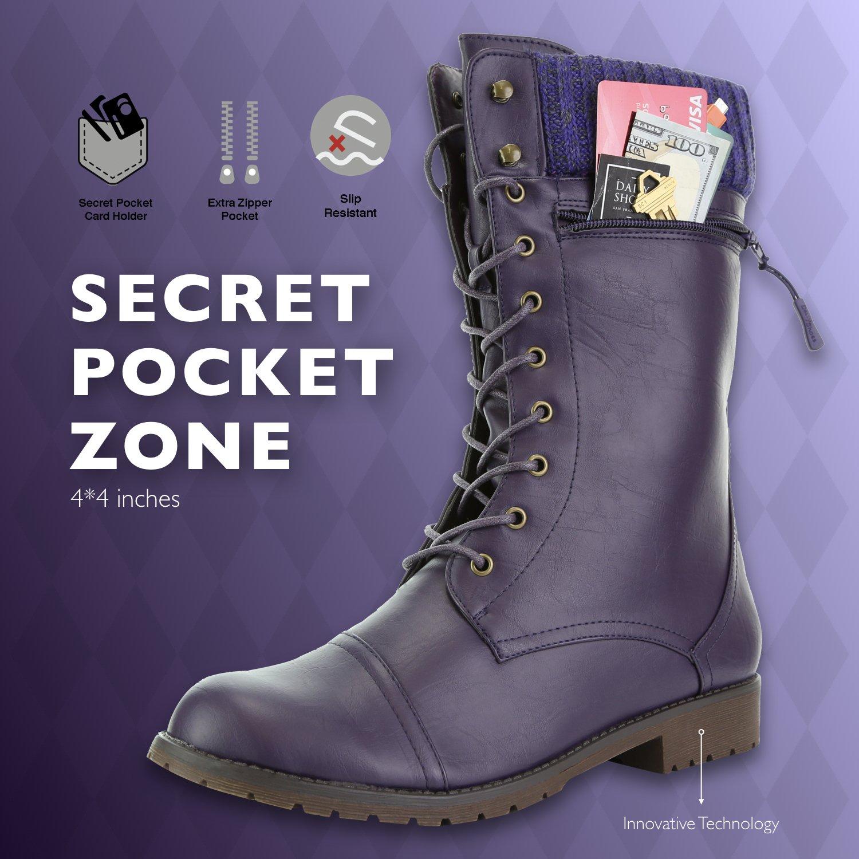 DailyShoes Women Crédito s Estilo bolsillo de combate arriba ...