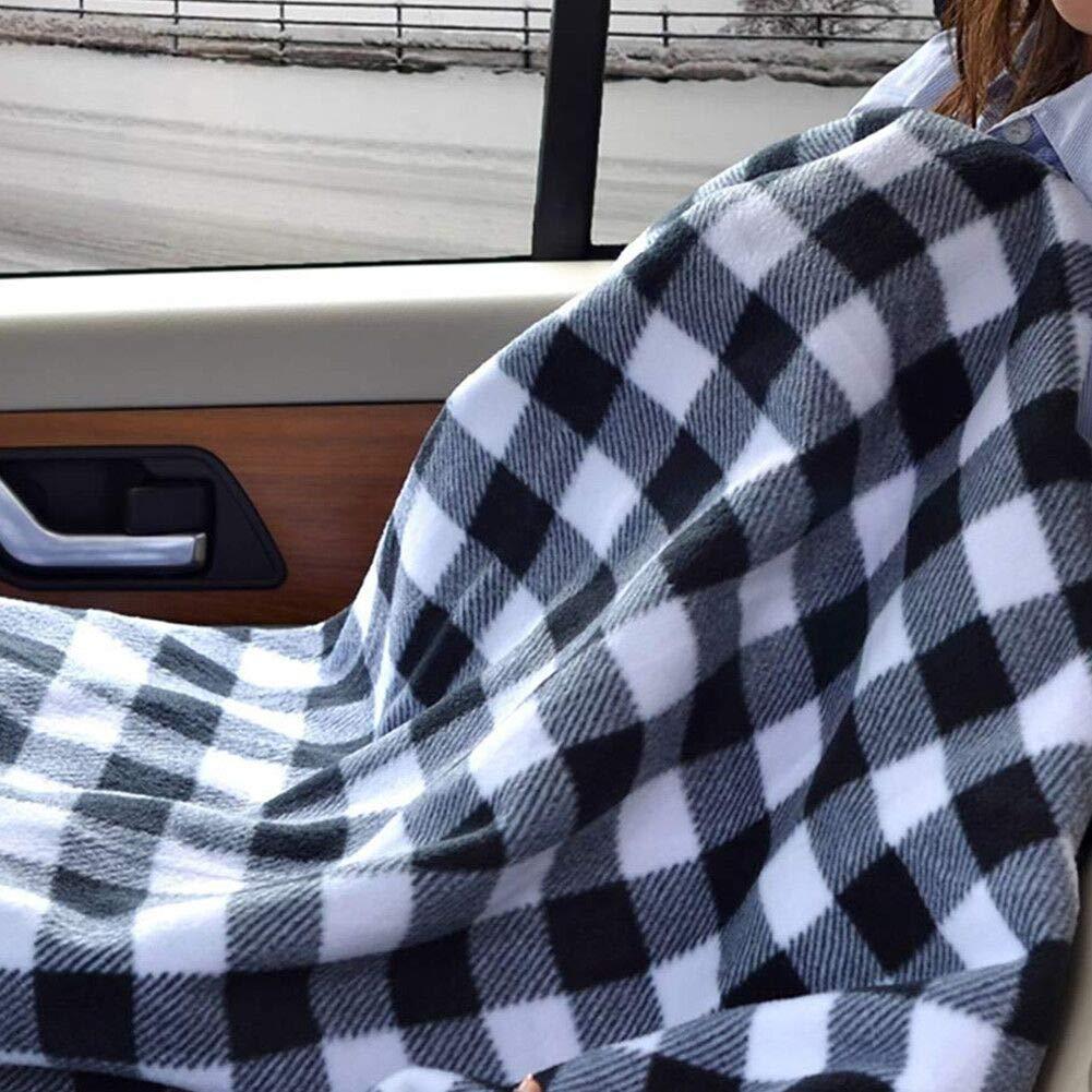 Rot JanTeel 12V Ultra Weiche Elektrisch beheizte Heizdecke Beheizbare Bequeme Polar Vlies Reise Auto Decke mit /Überhitzungsschutz,W/ärmedecke f/ür LKW-Boote oder RV Automotive-Electric-Blankets