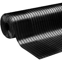 Rubberen loper vloermat rubberen mat brede groeven in 2 maten Dikte: 3 mm anti-slip mat (100 x 100 cm)