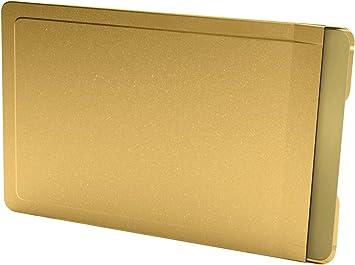 Card caja fuerte color Tarjeta Carcasa de Acero Inoxidable en Color Dorado, RFID/NFC para teléfono: Amazon.es: Equipaje