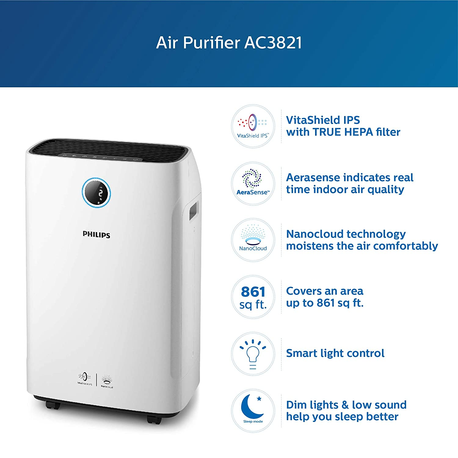 Philips Series 3000 Air Purifier with Humidifier