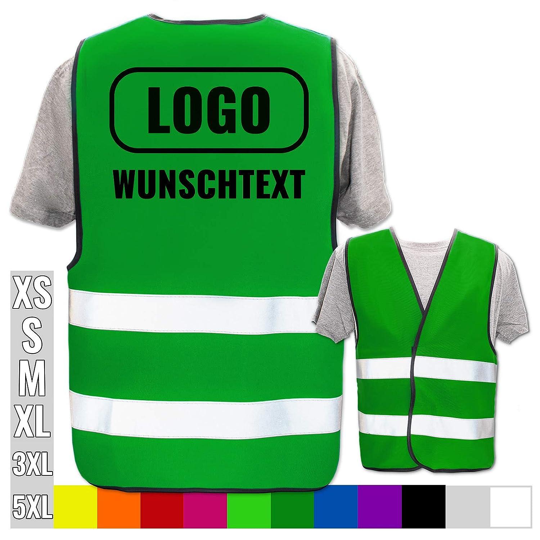 Warnweste Druckposition:R/ücken Gr/ö/ße:Pink Brust Warnweste Bedruckt mit Ihrem Name Text Bild Logo * echte Reflex-Leuchtstreifen * personalisiertes Design selbst gestalten Farbe 3XL//4XL