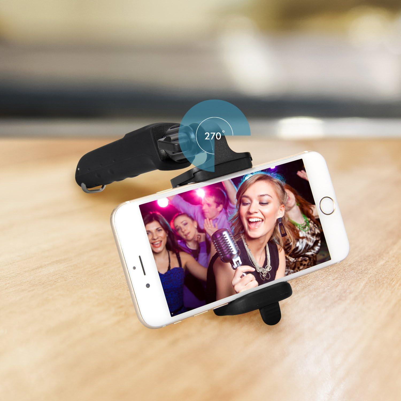 Schwarz Android Smartphones 270/° Einstellbarer Handyhalter f/ür iPhone iClever IC-SS01 Bluetooth Selfie Stick Stange Teleskopisch Monopod mit eingebautem Bluetooth-Fernausl/öser