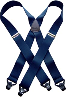 product image for Holdup Classic Series Basic Blue XL X-back Suspenders with patented black Gripper Clasp