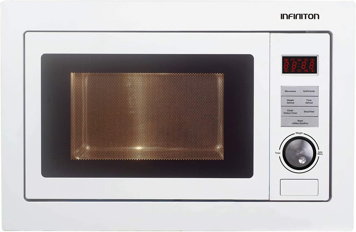 MICROONDAS INTEGRACION INFINITON IMW-1825 25L BLANCO (Potencia 900W, Capacidad 25L, Plato 31,5 cm, Descongelador)