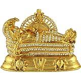 Divine Gifts Vishnu padmanabhan Idol Vishnu on sheshnag Colour Golden (Golden)