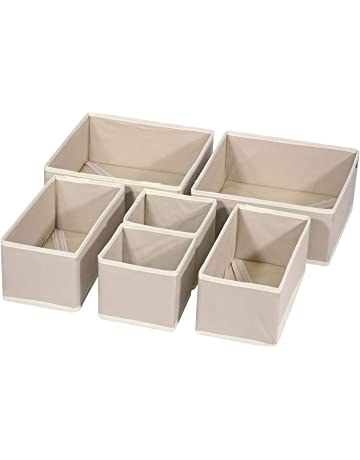 KIMIANDY Foldable Cloth Storage Box Closet Dresser Drawer Organizer Fabric  Baskets Bins Containers Divider with Drawers 1f0c33c07