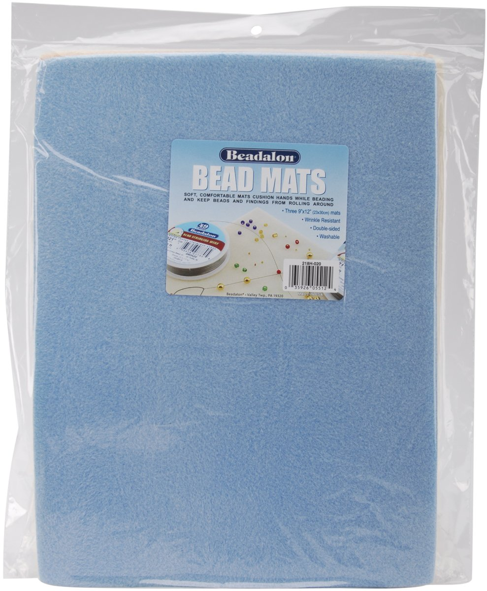 3-Pack Beadalon 218H-020 218H-020 Bead Mats 9-Inch by 12-Inch