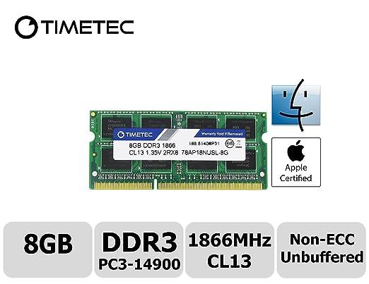 4 opinioni per Timetec Hynix IC 8GB DDR3 PC3-14900 1866MHz Apple iMac 17,1 w/Retina 5K display