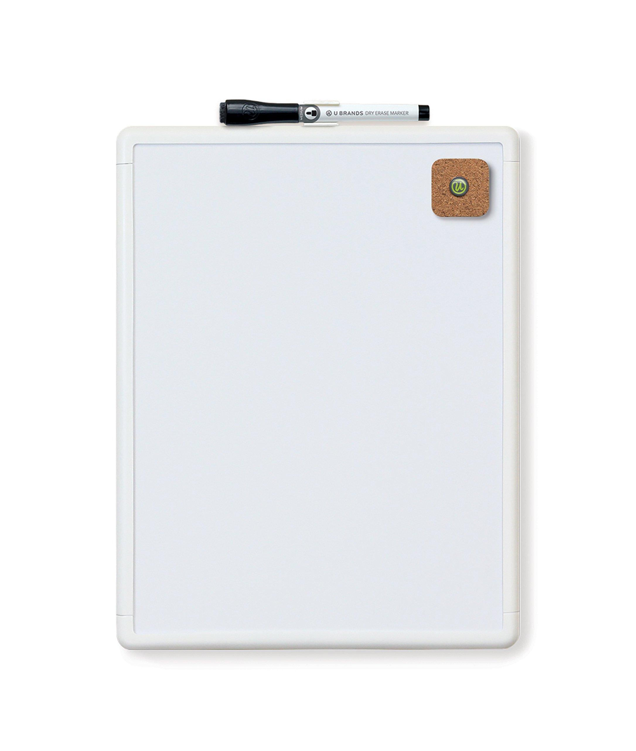 U Brands Contempo Magnetic Dry Erase Board, 8.5 x 11 Inches, White Frame
