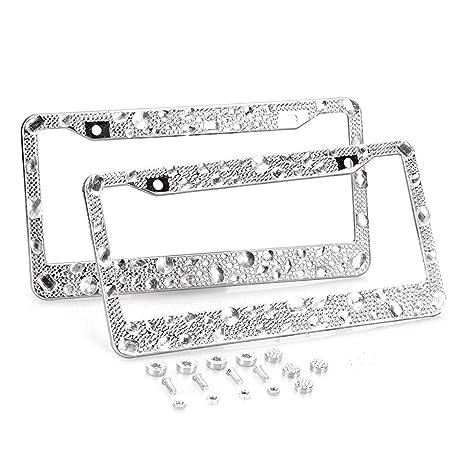 Amazon.com: Remtise Bling License Plate Frames for Women (2 Pack ...