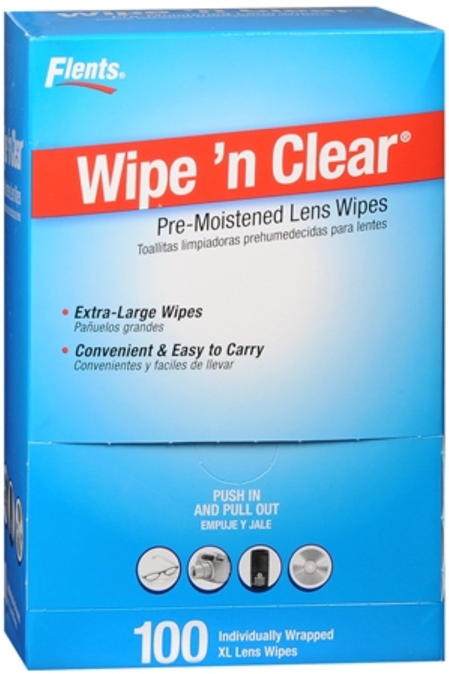 Amazon.com: Flents Wipe N Clear Premoistened Tissues #F414-210 100 Each (Pack of 8): Health & Personal Care