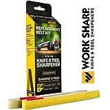 Official Work Sharp Knife & Tool Sharpener Diamond 1500 Grit Replacement Belt Kit