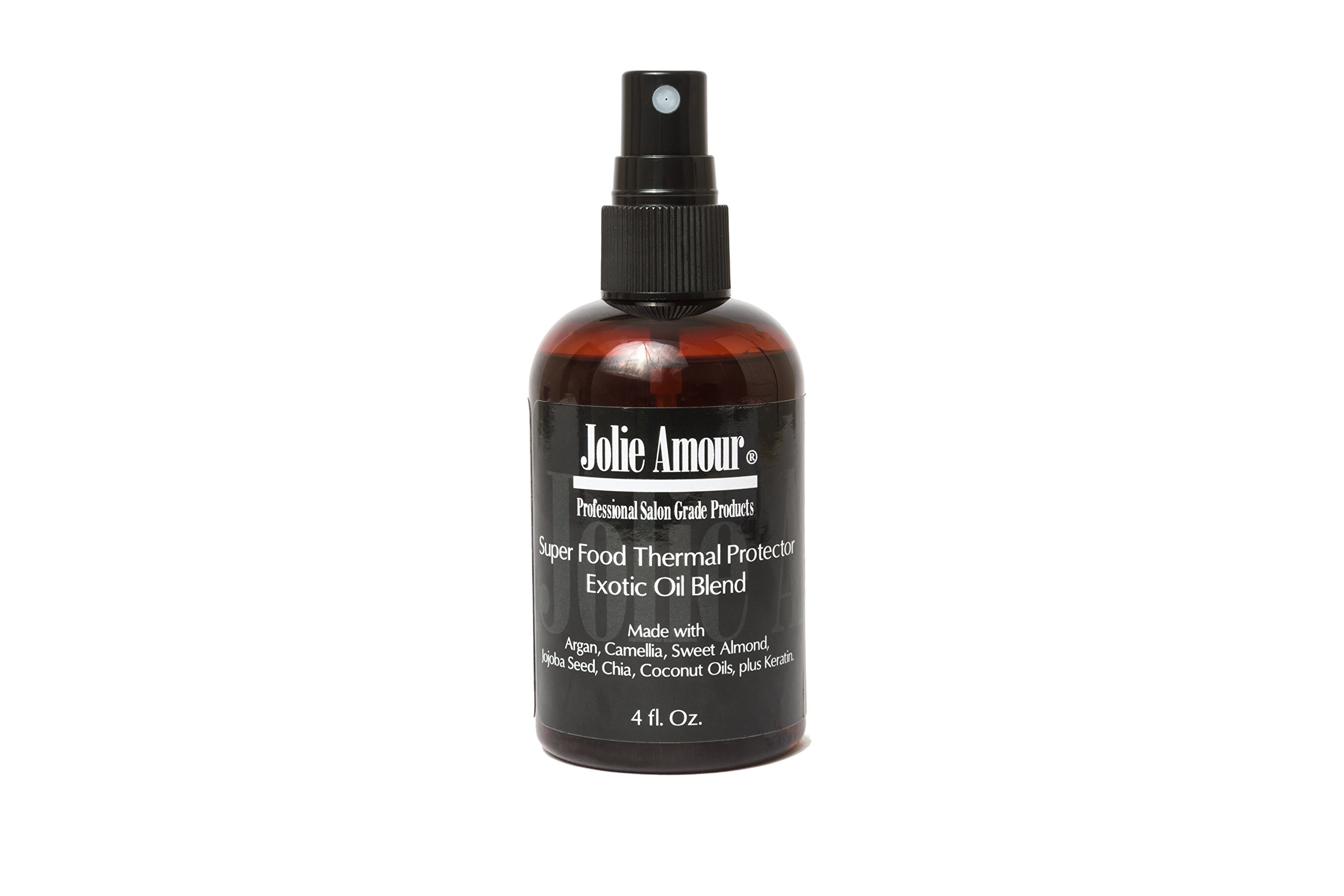 Professional Thermal Protector by Jolie Amour- 6 Exotic oils plus Keratin- Prevents heat damage from flat irons- Coconut oil- Keratin- Chia Seed- Argan- Sweet Almond- Jojoba- and Camellia