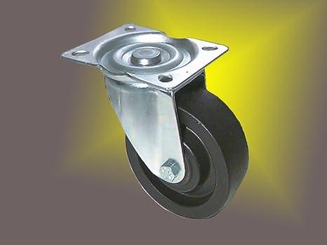 Resistente al calor ruedas diámetro 100 mm para horno stikken carro, galvanizado de chasis hasta