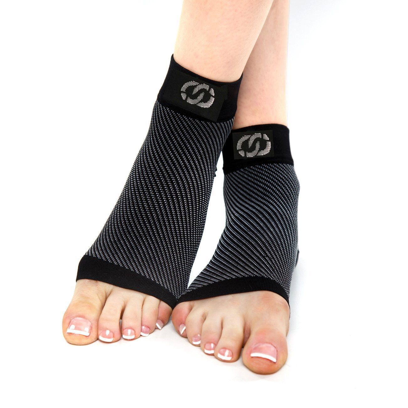 Compressions Plantar Fasciitis Socks (1 Pair) Foot Sleeves with Arch & Heel Support Treatment for Men & Women - Best to Brace Insoles for Relief (Small) by Compressions (Image #3)