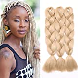 3 Pcs/300g 24'' Two Ombre Kanekalon Braiding Hair Synthetic Braid Hair Extensions