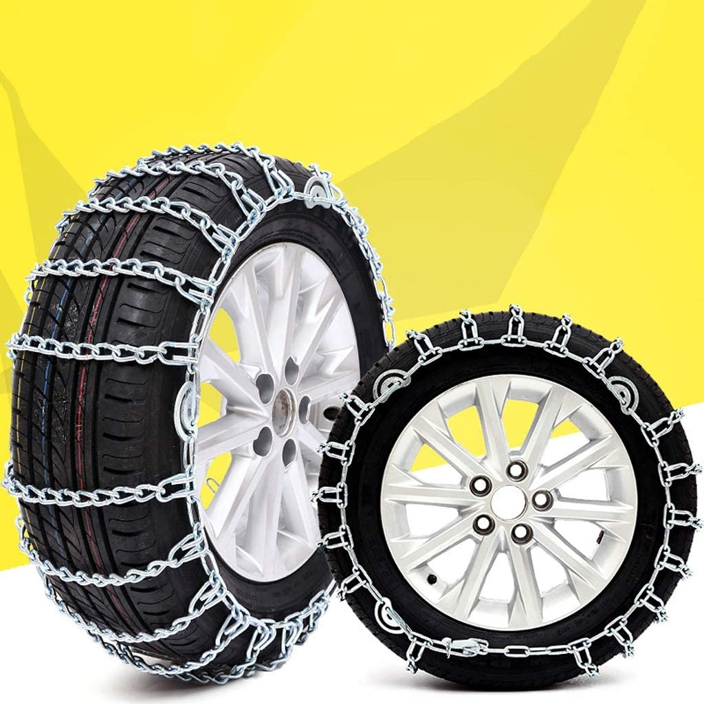 Color : Silver, Size : 7.00R14 Fting Universal Snow Chains Car Anti-Skid Snow Chains Portable Easy to Mount Emergency Traction Car Snow Tyre Chains Universal for Most Automotive SUV Trucks