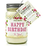 Scentiments HAPPY BIRTHDAY Gift Candle Linen Scented Fragrance 16oz