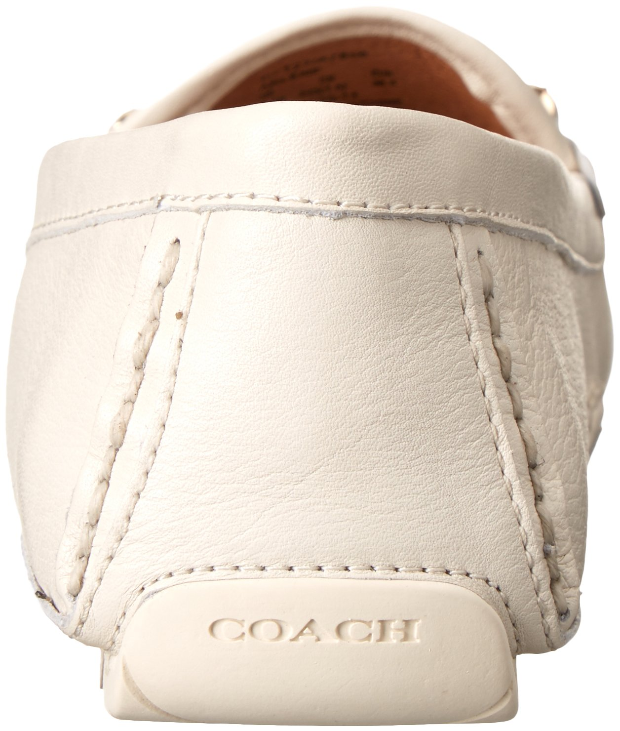 COACH Women's Arlene Chalk Pebble Grain Leather Flat by Coach (Image #2)