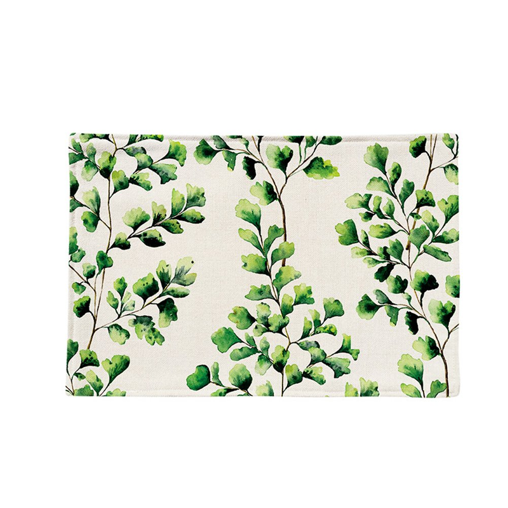 Wnakeli Placemat Table Mat Dining Desk Heat Resistant Cup Mat Plant Pattern Table Place Mats for Dining Table Home Restaurant 1Pcs