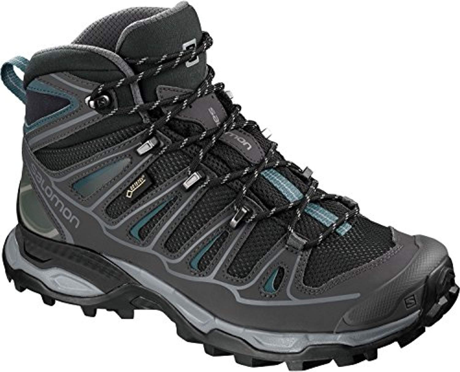 Salomon Women's X Ultra Mid 2 W Spikes GTX Snow Boot B07BRY4J12 6.5 M US|Black/Magnet/Hydro.