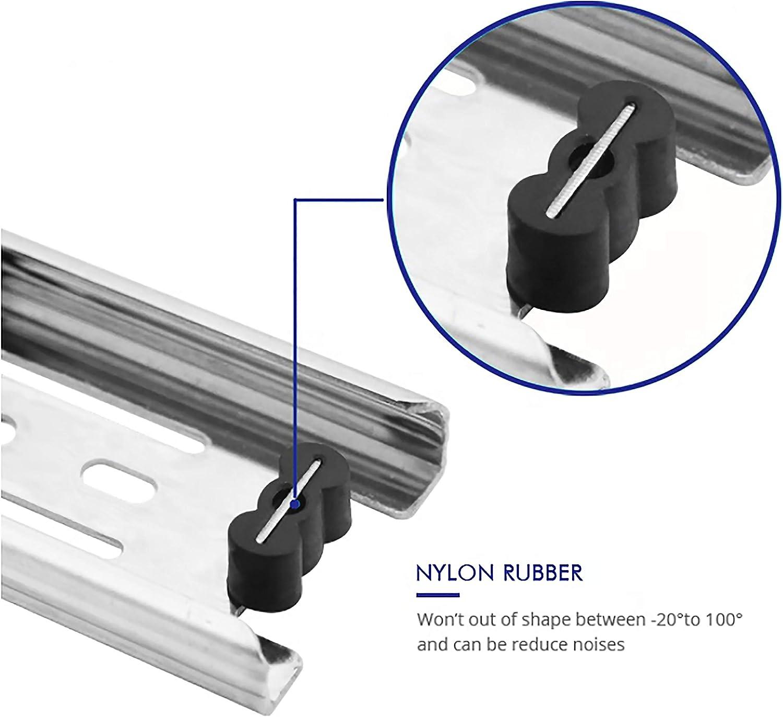 6 Pairs of 16 Inch Hardware 3-Section Full Extension Ball Bearing Side Mount Drawer Slides,100 LB Capacity Drawer Slide