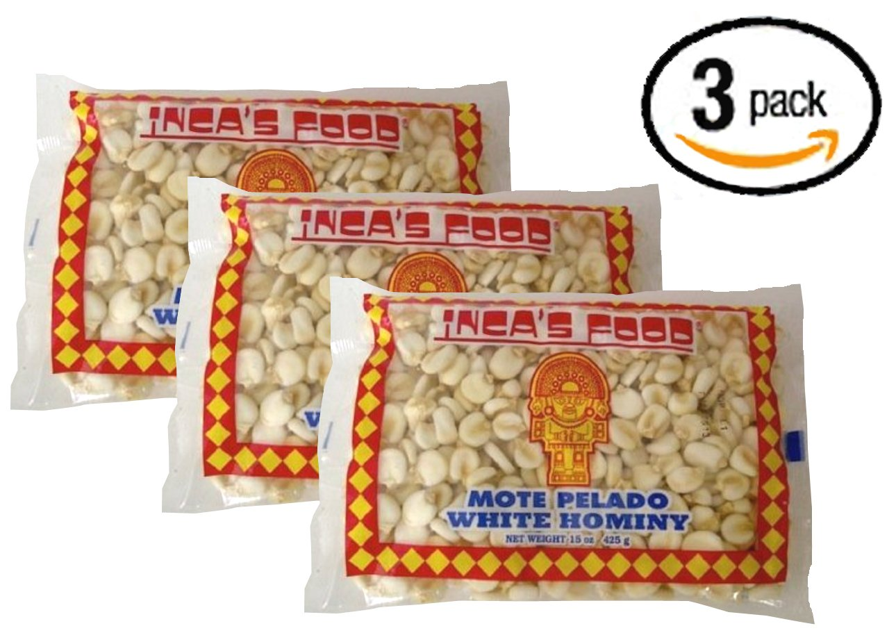 Inca's Food Mote Pelado - White Hominy 15oz (3-pack)