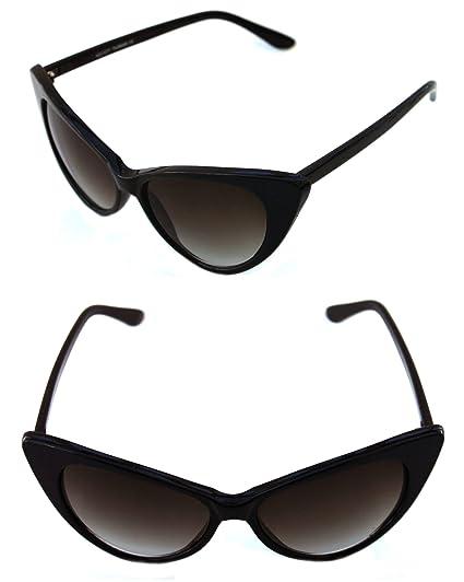 7ef2faa93c41 Women s Black Frame Oversize Cat Eye Rockabilly Pin Up Nikita Large  Sunglasses Retro Designer (BLACK